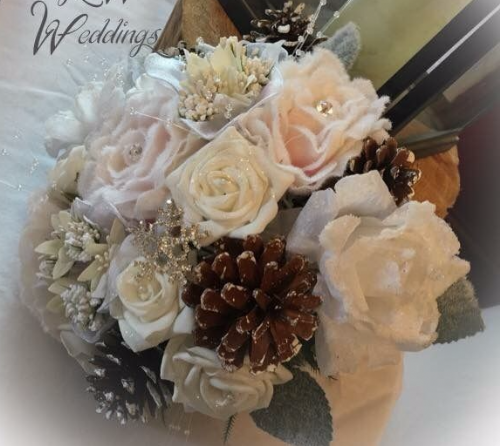 Champagne winter bouquet